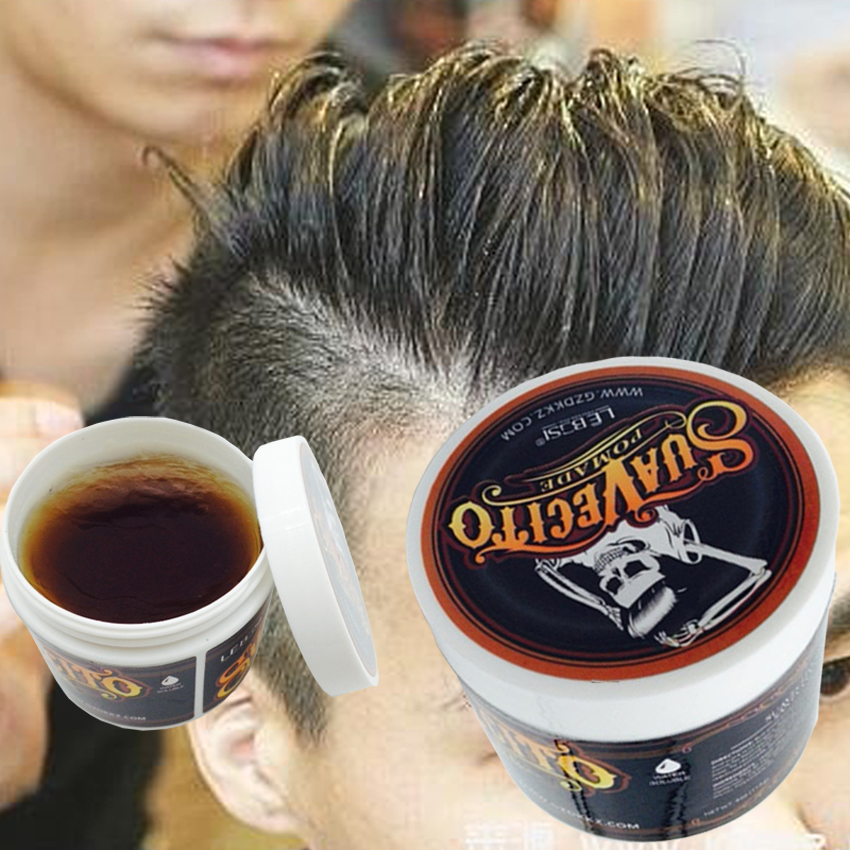 Popular Ancient Hair Cream Product Hair Pomade For Styling Salon Hair Holder In Suavecito Skull Strong Hair Modelling Mud Y-87 suavecito hair pomade strong style restoring pomade hair wax skeleton cream slicked oil mud keep hair men oil no original