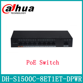 Dahua DH-S1500C-8ET1ET-DPWR PoE Switch Support POE POE+ Hi-PoE 8CH Ethernet Power Switch Replace DH-S1500C-4ET2ET-DPWR With Logo