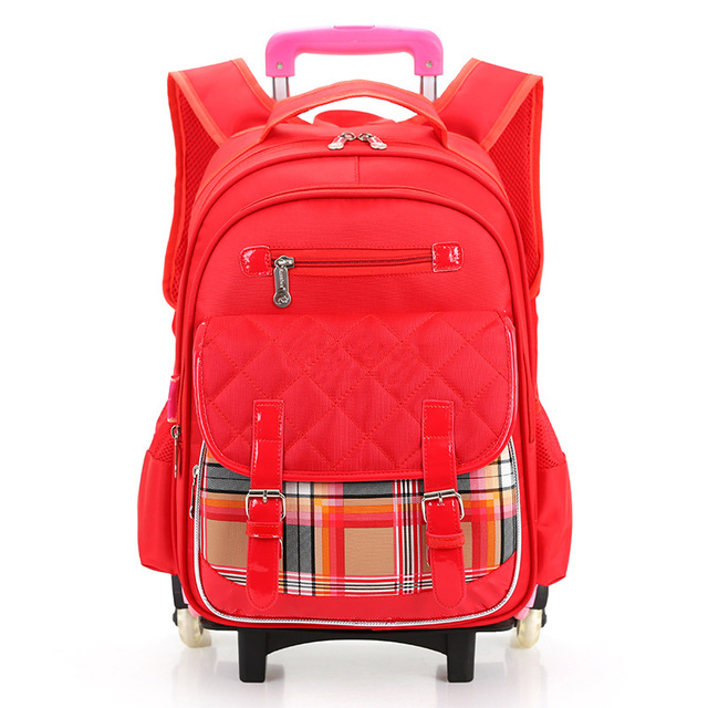 Waterproof Women Backpacks Boys Children School Bags With Wheel Girls  Trolley Backpacks for Middle School Shoulder eae7731f5b9d5