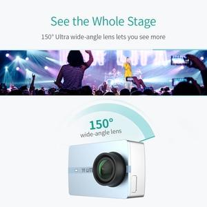 Image 5 - YI Lite caméra daction 16MP réel 4K caméra de sport avec WIFI intégré 2 pouces écran LCD 150 degrés grand Angle lentille noir
