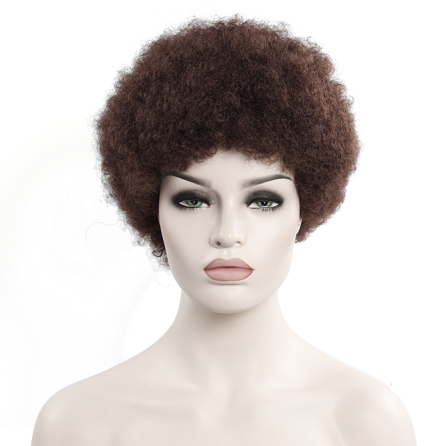 Afro Wig Mens Curly Hair Brown Synthetic Retro Wigs For Women Fluffy Wigs For Women Black Hair
