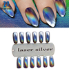 Nail Art Mirror Powder Laser Sliver Style Chrome Different Angles Show Different Colors Beauty Nails Glitter
