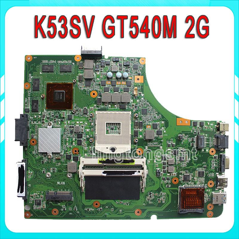 A53S A53Sc A53Sj A53Sv K53S K53Sc K53Sj K53Sv X53S X53Sc motherboard K53SV REV:3.1 USB3.0 GT540M 2G maindboard DDR3 test well original k53sv motherboard mainboard rev 2 3 rev 3 0 rev 3 1 fit for asus k53s a53s x53s p53s notebook n12p gs a1 gt540m