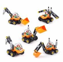 лучшая цена Big blocks shop truck 5 in 1 Pusher truck Assembly model blocks educational children toys431