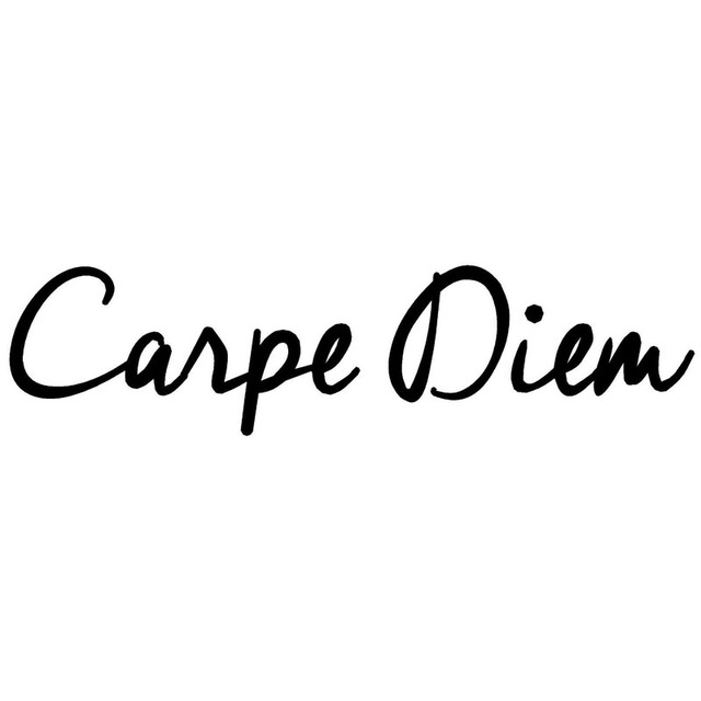 20.3*5CM CARPE DIEM Fashion Text Car Vinyl Decals Car