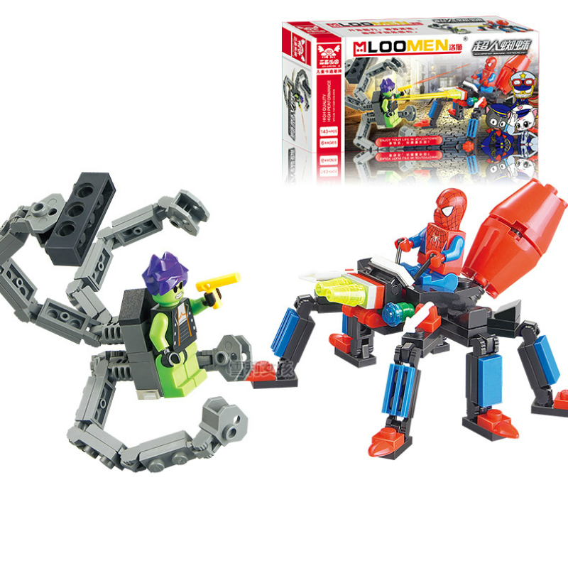 143pcs/set Super Heros Spiderman Doctor Octopus Building Blocks Bricks Educational Toys Brinquedo Birthday Gift For Children Kid ...
