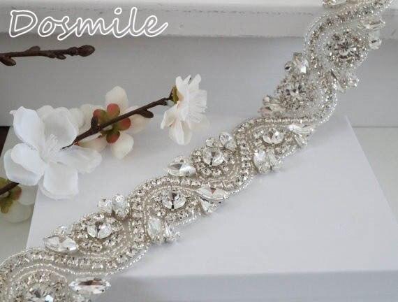 Shiny rhinestones trimming Wedding Sash Nice Beaded Wedding Belt Design Diamond Crystal Bridal Belt for bridal dresses
