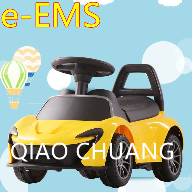 4 Colour Children Electric Baby Swing Car With LED Light Music Four Rounds Driving Car Scooter Multi-function Car G1525