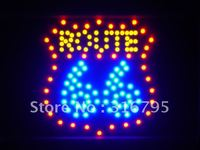 led086 b Route 66 Road Bar Led Neon Sign WhiteBoard Wholesale Dropshipping