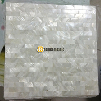 express shipping free!! brick pattern,tile backsplash , white mother of pearl seamless mosaic tiles shell mosaic