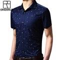 Мужчины С Короткими рукавами Рубашки 2016 Летний Новый Тонкий Фитнес Моды Лоскутное Дизайн Дышащий Хлопок Случайные Цветочный Рубашку M094