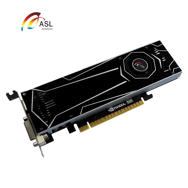 ASL GT1050 SSLP   2G GDDR5 128bit New Graphics Card Original   Video Cards For NVIDIA Geforce GT 1050 Hdmi Dvi Game