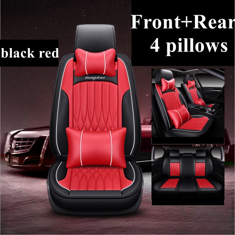 Luxury BLK//RED Car Seat Covers Protectors Dacia Duster Full Set