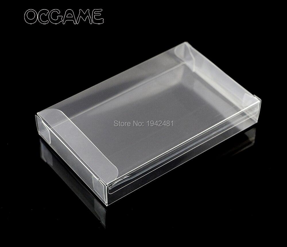 fb29e4fc162 OCGAME 100 PÇS LOTE Claro Protetor Caso caixa Do Cartucho transparente para  SNES jogos caixas