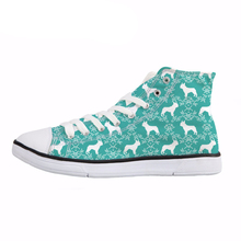 NOISYDESIGNS Casual Women's High Top Vulcanize Shoes Bulldog Print Woman Lace Up Canvas Shoes Fashion Breathable Sneakers Female недорого