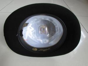 Image 5 - 100% Wool Derby Hat Unisex Bowler Hats Wool Felt Fedora Hats Derby Bowler Hats Feather Decorate B 8134