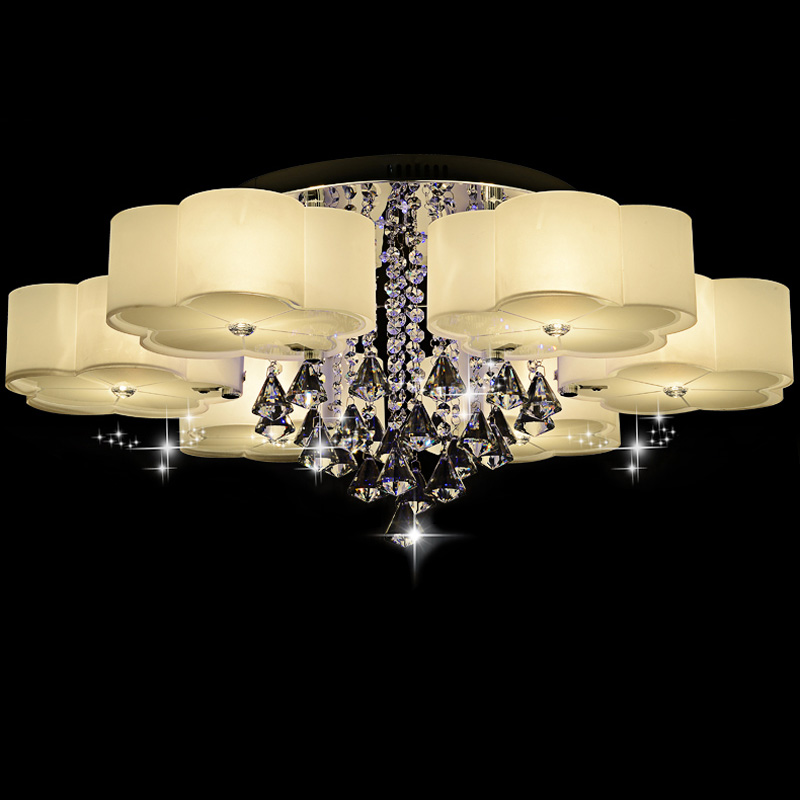 Ecolight Remote Control Ceiling Light with Deco Red/Blue Leds Crystal Ceiling Lamp Modern for Living Bed Room 220-240V бра leds c4 bed 05 2831 34 34