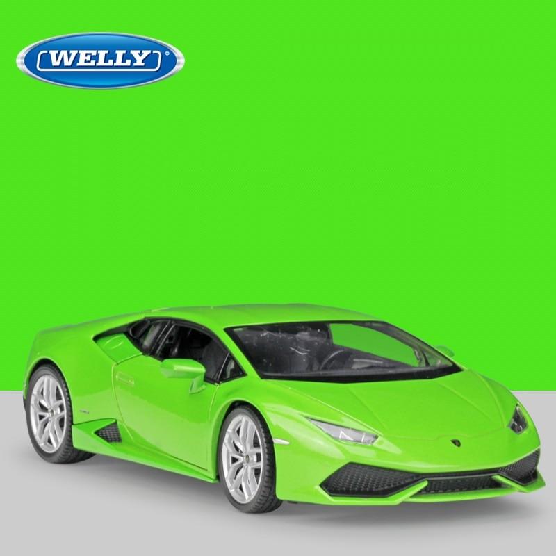 124 Welly Lamborghini Huracan LP610,4 green/yellow/red/white/matte black  Diecast Model Car