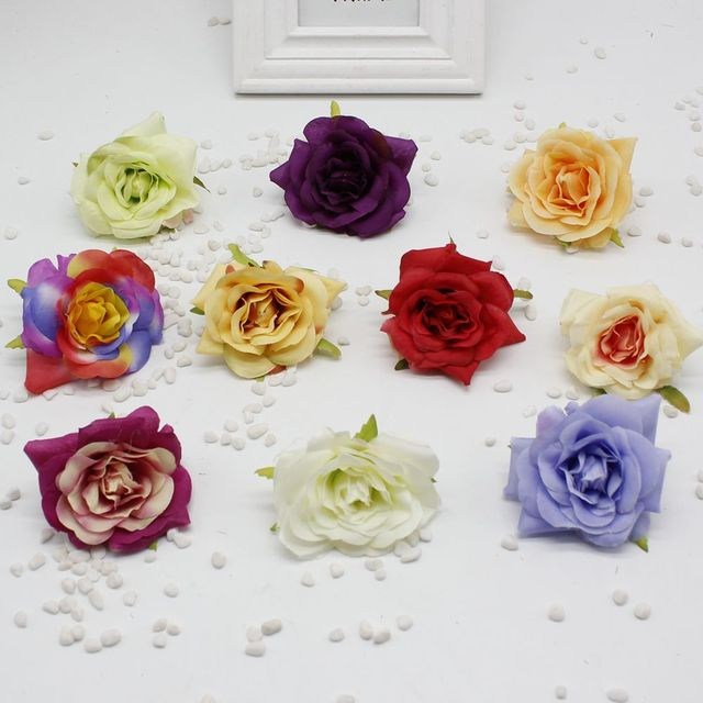 2pcs Lot Silk Rose Diy Flower Family Wedding Party Holiday Gift Decorative Bouquet Accessories
