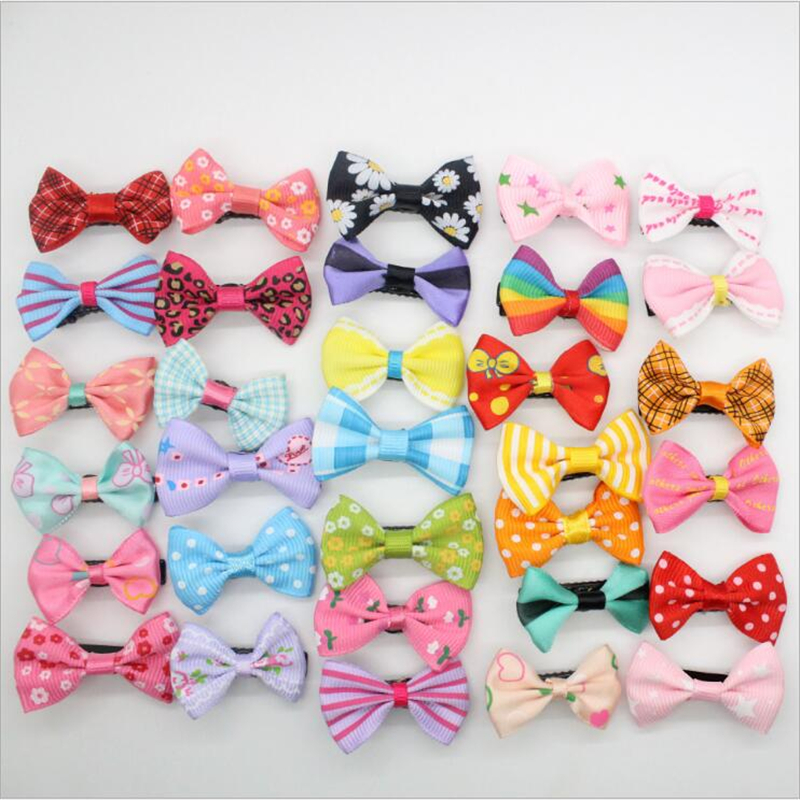 2017 Fashion Girls Hairpins Kids Candy Dot Flower Print Ribbon Bow Hairpin Hair Clips Kids Hair Accessories Boutique Barrette new women girls dot hair accessories candy color double ball hairpins cute baby kids hair clip ribbon dot barrettes
