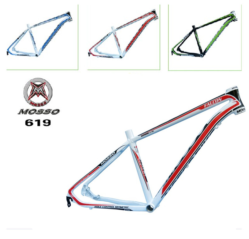 high quality bike frame MTB authentic mosso 619XC aluminium alloy mountain bike 26*16 17 18 inch frame Free shipping hot bike frame mtb authentic mosso 2608 aluminium alloy mountain bike 26 16 17 18 inch frame