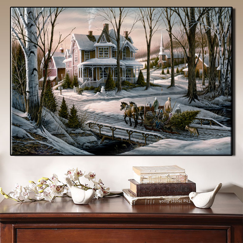 Outdoor landscape photo Modern pop elements wall HD canvas printing art Giclee home decoration murals no frame