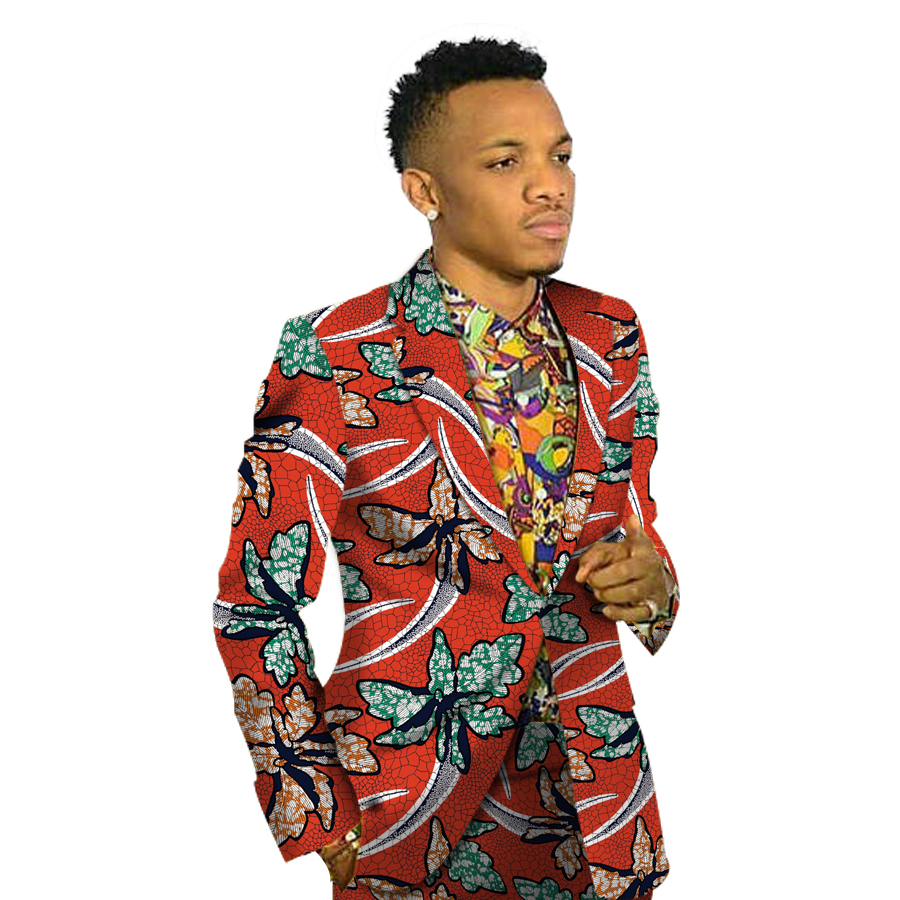 Africa Style Print Men Suit font b Jacket b font African Festive Blazers For Party Customize