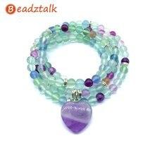Beadztalk браслеты с бусинами из натурального камня 74 см мала