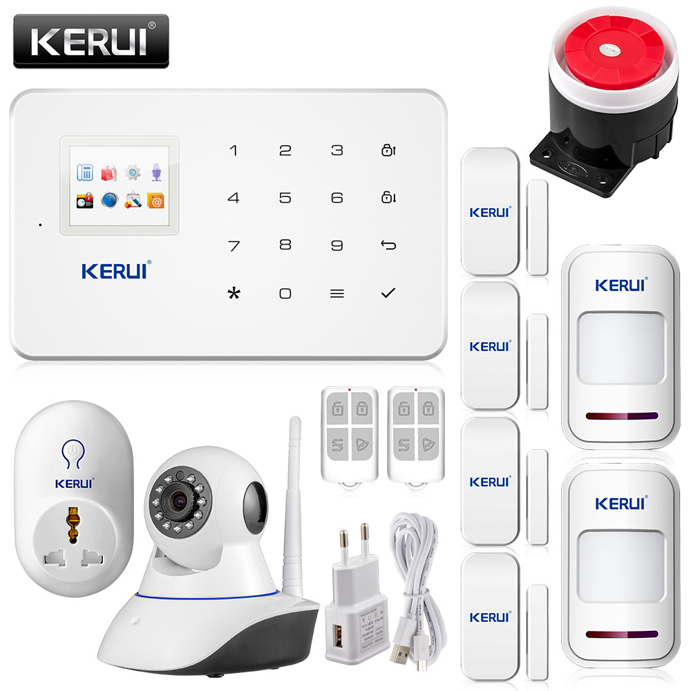 Wireless wifi ip camera HD App remote controller GSM sms call Home Alarm System Smart Home Burglar Security Alarm System G18 2 receivers 60 buzzers wireless restaurant buzzer caller table call calling button waiter pager system