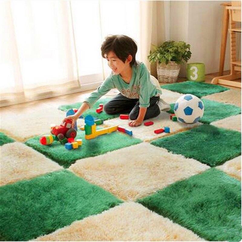 1pcs Fashion Thicken Plush Creative Splicing Puzzle Mat Super Soft Solid Color Carpet Floor Rug