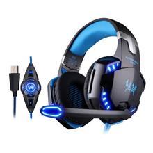Gaming Headset 7 1 Headphone USB Over Ear PC Gamer Earphone Headphone With Microphone light for