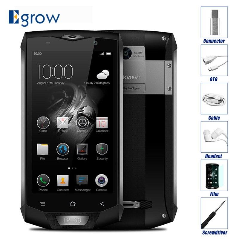 Blackview BV8000 Pro IP68 Étanche Mobile Téléphone 5.0 FHD MTK6757 Octa Core 6 gb RAM 64 gb ROM 16MP cam Côté D'empreintes Digitales 4g LTE