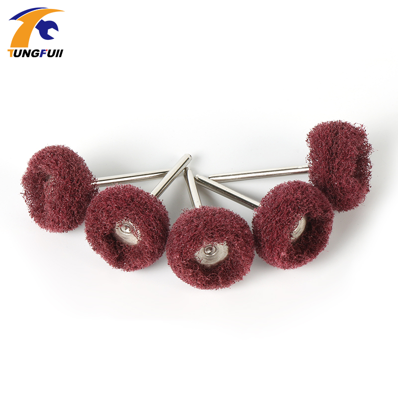 5pcs Scouring Pad Grinding Head Dremel Accessories Nylon Fiber Polishing Wheel Grinder Brushes For Dremel Rotary Tools Red free shipping upper fuser roller heat roller used for minolta di550 di570 di470 di450 copier spare parts laser parts 1pcs lot