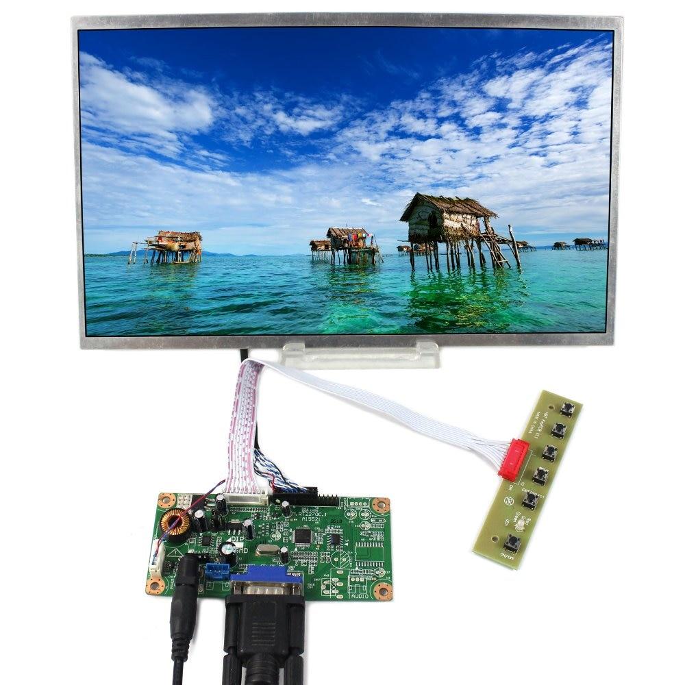 VGA LCD Controller Board+12 HSD121PHW1 1366x768 LCD Screen