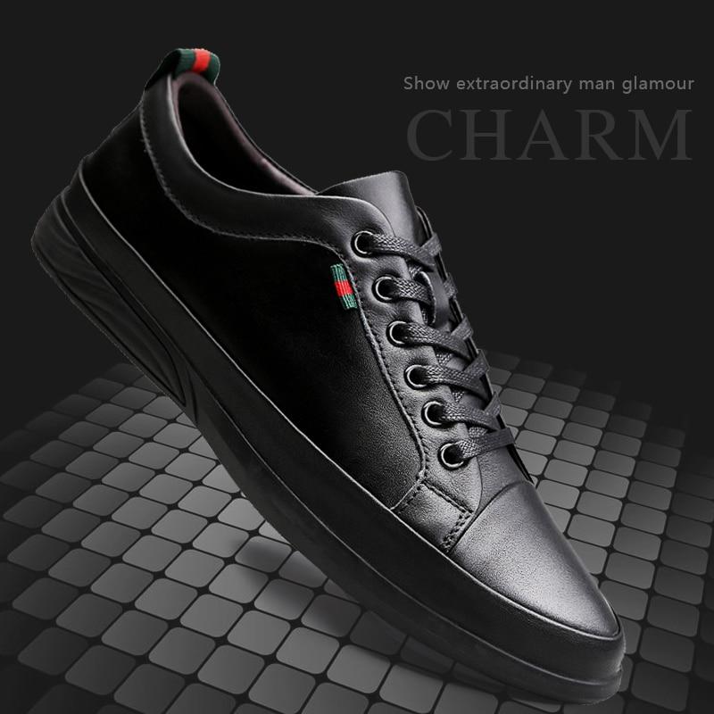 Lederen Schoenen Mannen Casual Loafers Gemaakt van Echt Leer Mannelijke Schoenen Volwassen Luxe Lederen Schoenen Mocassins Mannen Lederen Sneakers-in Casual schoenen voor Mannen van Schoenen op  Groep 1