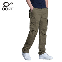 OONU 2017 new  High Quality Men's Cargo joggers Pants Casual Military for Men Overalls tactical Trousers Men Camouflage fashion