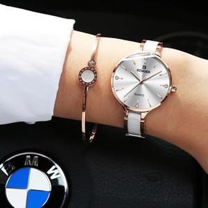 Image 3 - שוויץ BINGER יוקרה נשים שעון מותג קריסטל אופנה צמיד שעונים גבירותיי נשים שעוני יד Relogio Feminino B 1185 4