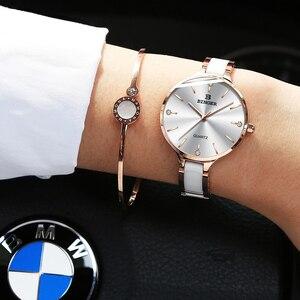 Image 3 - Schweiz BINGER Luxus Frauen Uhr Marke Kristall Mode Armband Uhren Damen Frauen Armbanduhren Relogio Feminino B 1185 4
