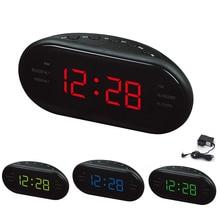 СВЕТОДИОДНЫЙ световой экран Повтор электронные часы AM FM радио Будильник цифровой FBE3