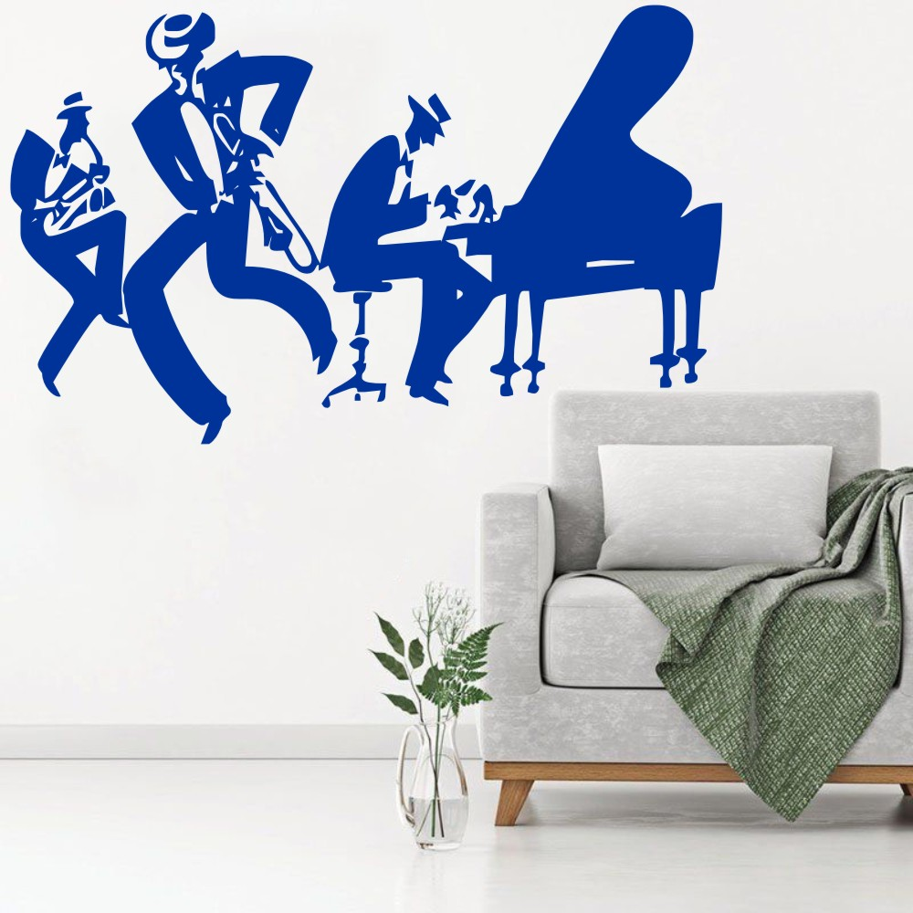 Stickers Islam Pas Cher us $4.46 25% off saxophone piano jazz cool wall sticker home music decor  sax instrument tool band modern wall murals poster quality decal q 82 wall