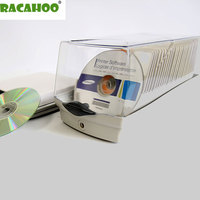 RACAHOO High Quality CD Case 50 Pcs Loaded With Cassette CD / DVD Disc Bag With Anti theft Lock Child Llock For Car And Home