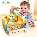 Esponja bebê dos desenhos animados de madeira modelos de kits de blocos de construção tijolos de brinquedo crianças cedo aprendizagem precoce educacional diy brinquedos para as crianças