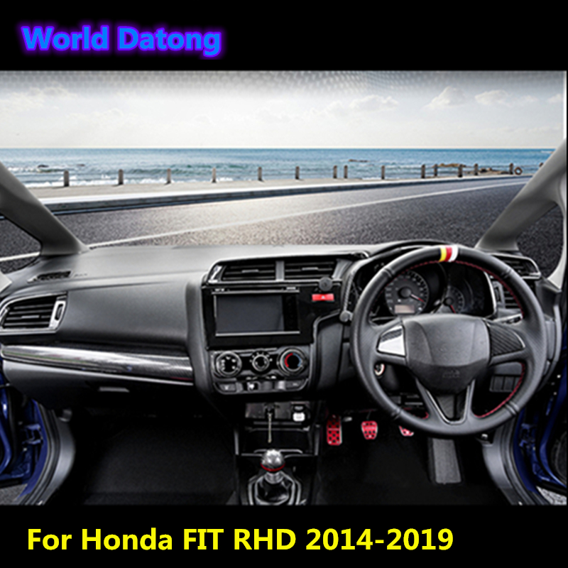 Carbon Fiber Interior Hand Brake Cover Trim For Honda Jazz Fit GK5 2014-2019