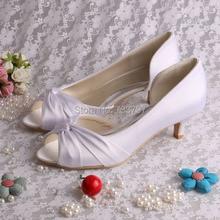 Открытым Носком Низком Каблуке Насосы Свадебные Туфли Женщина Насосы Пользовательские Ручной