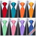 20 Style Solid Mens Ties Neck Ties 8.5cm Silk Gravatas Ties for Men Wedding Suit Dress Blue Orange Red Purple CorbatasCorbatas