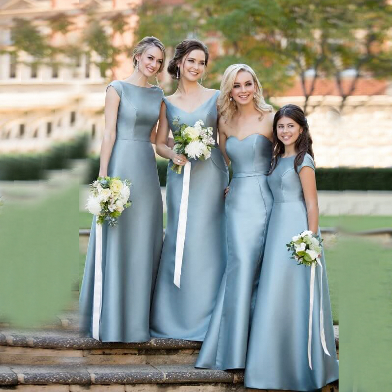 Vinca sunny elegant simple   bridesmaid     dresses   3 Style wedding party   dress   satin junior wedding guest   dress   vestido de festa 2019