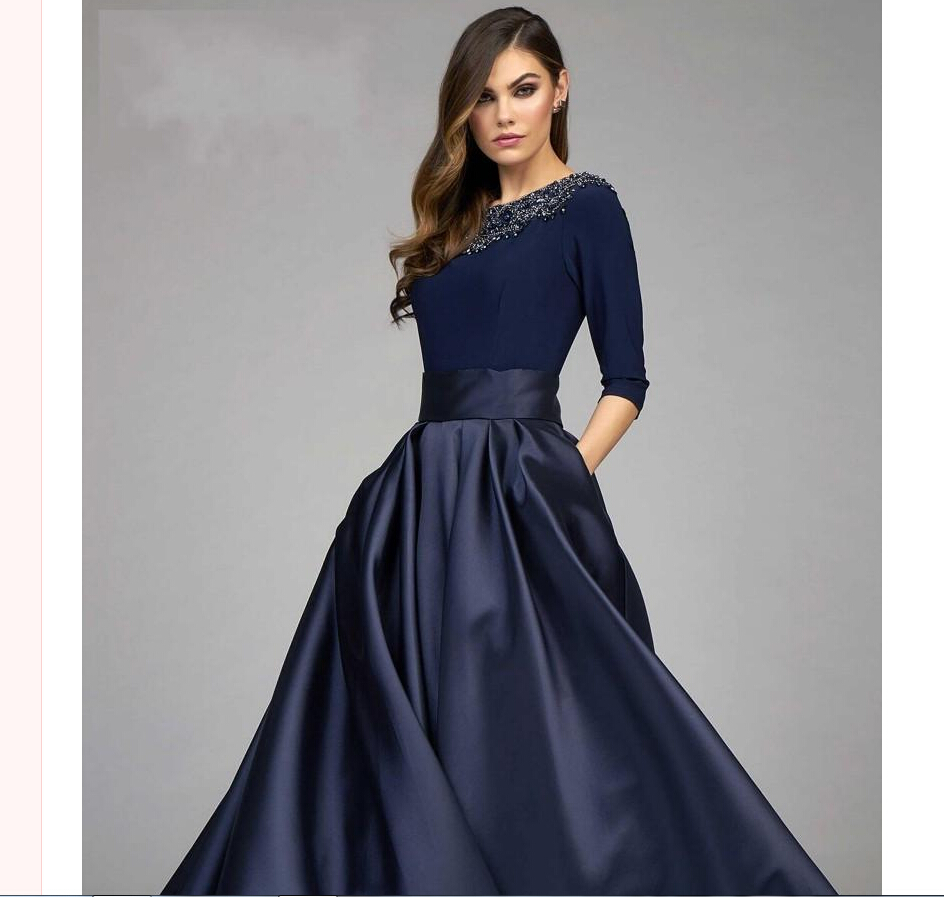 Mother Of The Groom Gowns: Vintage Navy Mother Of The Bride Groom Dresses A Line Half