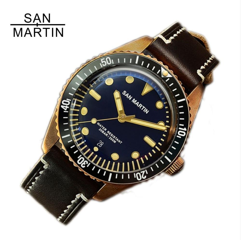 Best San Martin Vintage Diving Bronze Automatic Watch