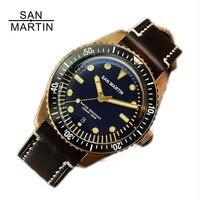 San Martin Men Sixty Five Vintage Bronze Watch Diving Watch Swiss ETA2824 Automatic Watch 200m Water Resistant Montre Homme Men