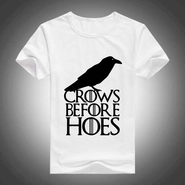 2016 Hot Sale Men Game Of Thrones Crows Before Hoes Unique